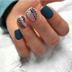 The most beautiful manicure ideas and Nail art ideas for pretty varnished nails! The most beautiful manicure ideas and Nail art ideas for pretty varnished nails! Classy Nail Designs, Gel Nail Designs, Nails Design, Spring Nail Art, Spring Nails, Winter Nails, Fall Nails, Gorgeous Nails, Pretty Nails