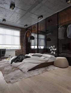 Bedroom Men Ideas Modern Contemporary Masculine Bedrooms Home Design Lover. Bedroom Bathroom: Luxury Mens Bedroom Ideas For Home . 45 Amazing Men's Bedroom Ideas And Where To Purchase . Home and Family Industrial Bedroom Design, Modern Bedroom Decor, Trendy Bedroom, Cozy Bedroom, Bedroom Wall, Living Room Decor, Living Spaces, Men Bedroom, Master Bedroom