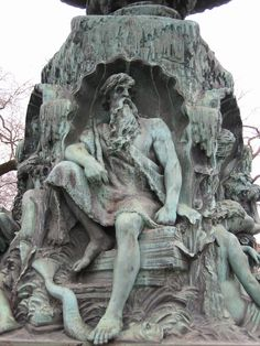 """Ægir (Old Norse """"sea"""") is the god of the ocean & king of the sea creatures in Norse mythology. He often appears in art as a thin old man with clutching hands & long white hair resembling sea foam, although he is sometimes shown as a giant.  The Norse, a seafaring people who knew the sea & its dangers, valued Aegir highly. Aegir & his wife carried a net with which they could trap seafarers & pull them down to their underwater kingdom. Drowned sailors were said to dine at Aegir's banquet hall."""