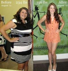 Weightloss before and after