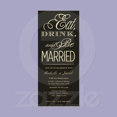 Eat, Drink, Be Married Invite