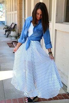 Precious in Polka Dots {Maxi Skirt}