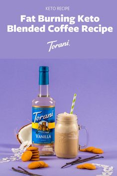 This at home keto coffee recipe uses, brewed coffee, chilled, grass fed butter, coconut oil, Torani Sugar Free Vanilla Syrup, and unsweetened coconut milk. Create your at home keto blended coffee here! Blended Coffee Recipes, Coffee Drink Recipes, Coffee Drinks, Unsweetened Coconut Milk, Coconut Oil, Sugar Free Vanilla Syrup, Keto Coffee Recipe, Keto Recipes, Dessert Recipes