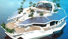Orsos Island. The ability to escape to your own private island isn't a new fantasy, but it may soon be available in ways we never dreamed possible. Check out this self-sustaining 10,000-square-foot yacht-island recently released by Orsos Island GmbH.