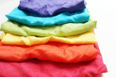 Seidenhühner Rainbow Schal Spielset groß  Montessori von MamaMayI