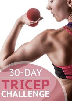 Work toward the toned arms you've always wanted with this month-long tricep challenge.