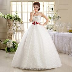 Find More Wedding Dresses Information about 2015 new hot sale simple sexy backless elegant  beach sweetheart  Bra lace plus size white beading wedding dress strapless,High Quality lace wedding dress designer,China lace dress bride Suppliers, Cheap lace dress one sleeve from Playful beauty department store on Aliexpress.com