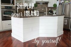 Excellent Photos kitchen island shiplap Concepts For many individuals, an ideal cooking area isn't complete without the need of the most perfect kitchen's isla. Diy Outdoor Kitchen, Diy Kitchen, Shiplap In Kitchen, Kitchen Storage, Kitchen Ideas, Brown Kitchens, Home Kitchens, Dream Kitchens, Kitchen Island Makeover