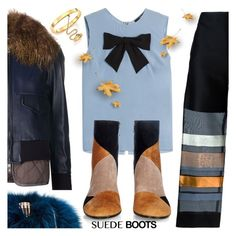 """""""SUEDE BOOTS"""" by tiziana-melera ❤ liked on Polyvore featuring Sacai Luck, Steffen Schraut, Erika Cavallini Semi-Couture, Gianvito Rossi, Benedetta Bruzziches and Chloé"""