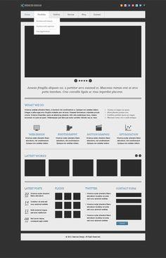 Zeences Free Homepage PSD