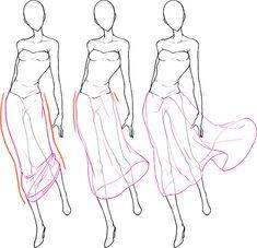 スカートの動き方