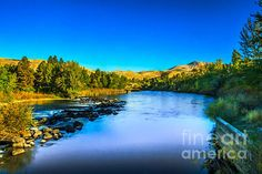 The Peaceful and Beautiful Payette River: See more images at http://robert-bales.artistwebsites.com/