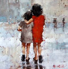 Andre Kohn - Russian artistic inspiration, original oil, Waterhouse Gallery, Santa Barbara, California