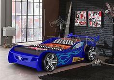 Z1 RACING CAR BED BLUE 3'0FT + AERODYNAMIC SPOILER