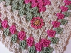 Crochet Modified Granny Square Baby Blanket for Baby Girls
