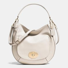 Circle Hobo in Smooth Calf Leather