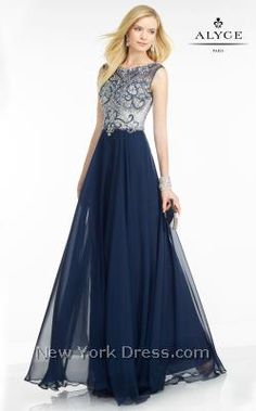 Revel in the romance of this stunning evening gown from Black Label by Alyce…