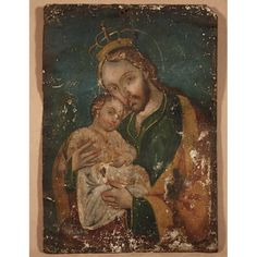Mexican Tin Retablo of St. Joseph