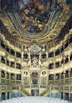 Magravial Opera House Bayreuth - Germany - A masterpiece of Baroque theatre architecture, built between 1745 and The opera house can accommodate an audience of around Architecture Baroque, Architecture Cool, Beautiful Buildings, Beautiful Places, Magic Places, Concert Hall, Opera House, Germany, Around The Worlds