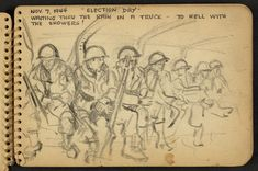 An evocative sketchbook traces one soldier's journey through WWII