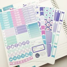 Midnight Floral Weekly Planner Sticker Kit. Perfect for Erin Condren Life Planners! MK020