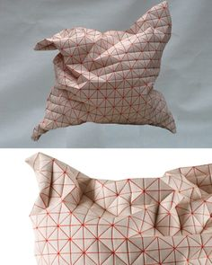 3d fabrics - Geo pillows by Mika Barr for Talents Design