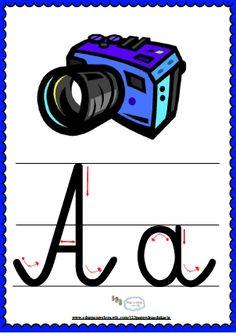 Litera Aa- plansza demonstracyjna FREEEE Polish Language, Montessori, Education, School, Puzzle, Improve Handwriting, Alphabet, Full Bed Loft, Therapy