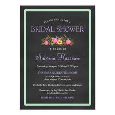 ShoppingFloral Chalkboard Style Bridal Shower InvitationsWe have the best promotion for you and if you are interested in the related item or need more information reviews from the x customer who are own of them before please follow the link to see fully reviews