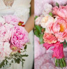 Hoa cưới cầm tay mẫu đơn đủ sắc