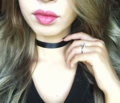 A personal favorite from my Etsy shop https://www.etsy.com/listing/476283322/black-satin-choker