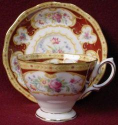 Royal Albert Lady Hamilton pattern Cup & Saucer