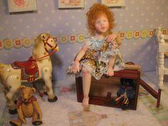 OOAK Dollhouse Miniature Girl Doll * CeCe * by Carol McBride