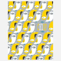 Bird Pattern Boxed Cards now featured on Fab.