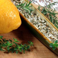 Herb Salt Recipe, No Salt Recipes, Good Or Well, Gourmet Salt, All Purpose Seasoning, Lemon Herb, Spice Rub, Appetizer Dips, Diet And Nutrition