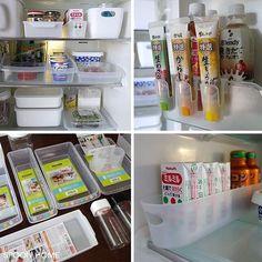 """186 Likes, 7 Comments - spoonhome (@spoonhomeblog) on Instagram: """"【冷蔵庫の収納アイデア・100円均一編】 冷蔵庫の整理にセリアとダイソーの収納グッズを使用しました . 冷蔵庫専用の収納グッズなので使いやすく、サイズや形のバリエーションも豊富です✨ .…"""""""