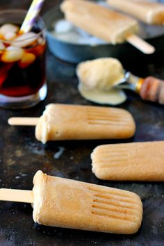 These Root Beer Float Popsicles taste just like the classic drink, but in frozen form! Filled with sweet root beer and creamy vanilla ice cream, these popsicles are the perfect treat to beat the heat!