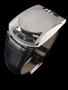 UR-103 White Gold | URWERK - Baumgartner & Frei Geneva | The future of fine watchmaking