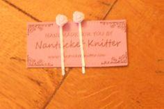 White Rose Bobby Pin in Nantucket Knitter