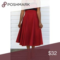 """Red and White Vintage Style Dress Bust: 30""""  Waist: 28-30""""  Hips: Free  Length: 36"""" Unique Vintage Dresses Midi"""