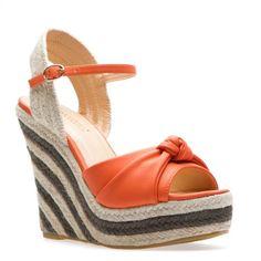 #Fun wedge shoe.