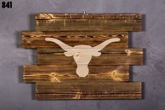 texas longhorns Wood Sign boyfriend gift  texas by LOLALIWOOD