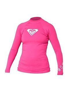 Women's Rash Guard Shirts - Roxy Juniors Whole Hearted LongSleeve Rashguard ** Click on the image for additional details.