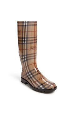 $225, Tall Rain Boot by Burberry. Sold by Nordstrom. Click for more info: http://lookastic.com/women/shop_items/147242/redirect