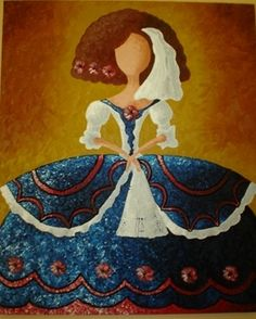 Cuadro de menina Más Kunstjournal Inspiration, Art Journal Inspiration, Wool Dolls, Felt Dolls, Easy Canvas Painting, Canvas Art, Ceramic Figures, Flower Fairies, Animal Crafts