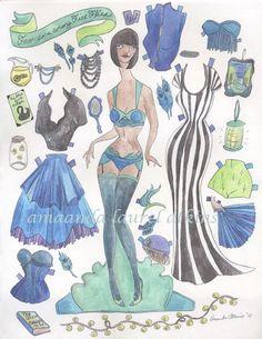 Francesca unter Glühwürmchen Paper Doll - Vintage New Orleans inspiriert von Amanda Atkins