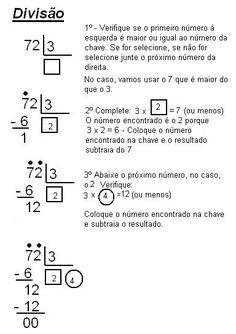 Rosangela.Aprendizagem: Divisão-Passos/Termos/Cálculos                                                                                           Mais