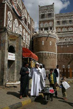 Sana'a, Yemen   by Retlaw Snellac, via Flickr