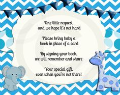 Instant dowloadBring a Book Insert Card Baby Shower by OldOwlPress