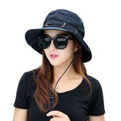 154882870de Female Summer Fisherman Hat Sun Hats Women Fashion Beach Sun Hat Anti-UV  Sun Protection