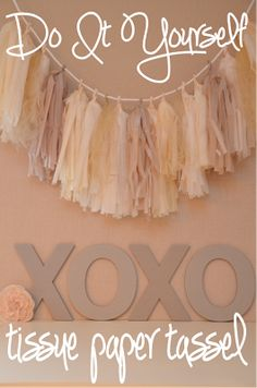 New Party Lights Diy Tissue Paper 38 Ideas Mobiles, Do It Yourself Decoration, Tissue Paper Tassel, Paper Garlands, Diy Garland, Tassel Garland, Garland Ideas, Idee Diy, Party Lights